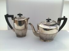 Victorian Silver Plate 'Art Deco' Teapot and Hot Water Pot by Richard Richardson