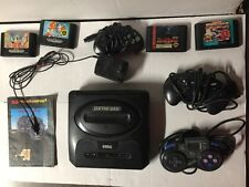 Sega Genesis W/ 3 Controllers Programpad Powerpad 4 Games Power Adapter No RCA
