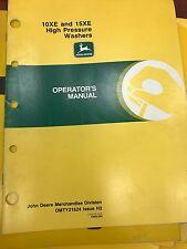 John Deere Op Manual 10XE 15XE High Pressure Washers #OMTY21624 (USED)(BW)