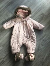 Baby Girls Pink Hooded Absorba Snowsuit With Detachable Shoes- 6 Month
