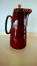 VTG  Coffee/ TeaPot Pitcher Carafe USA Oven Proof Tall Brown Drip With Lid-Hull?