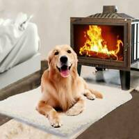 Pet Dog Cat Washable Self Heating Bed Fleece Mat Blanket Soft Pad Rug Warm M5T5