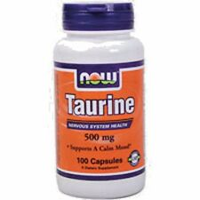 NOW Foods TAURINE 500 mg - 100 capsules MOOD, NERVOUS SYSTEM & EYE HEALTH