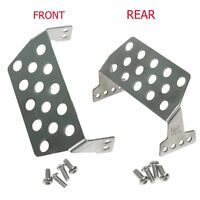 For RC Traxxas TRX-4 Stainless Steel Front Rear Skid Bumper Lower Protect Plate
