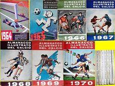 ALMANACCO ILLUSTRATO DEL CALCIO ED. CARCANO: 1964 - 1970 COMPLETA