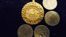 bling gold plated lucky larger 1980 KRUGERRAND coin charm chain necklace hip hop