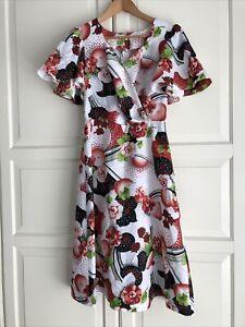 J Solka Fashion A-line Dress Size 8 Vintage