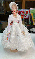 Vintage Rare Doll with Dress and Bonnet including Stand Unmarked