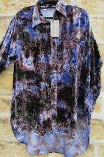 "Neues AngebotGroße blau/bronze/schwarz Jordash Crush Samt Batik Top/Shirt 48"" Brust"