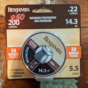 Benjamin hunting pellets  DESTROYER .22 cal 14.3gr 22 caliber