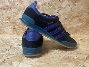 adidas Jeans MKII Custom Re-Dye Trainers Black, Blue and Green Size 6 UK