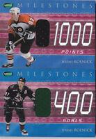 01-02 Parkhurst Jeremy Roenick /90 Jersey Milestones 1000 Points Flyers 2001