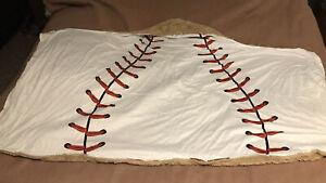 NIP Baseball Throw Blanket Hoodie! Super Soft