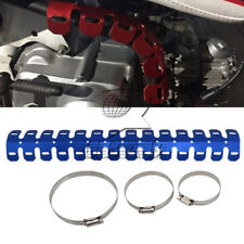 60cm Universal Motor Exhaust Muffler Pipe Leg Protector Heat Shield Cover Blue