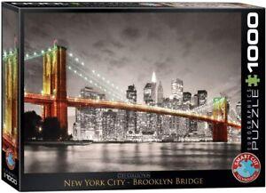EuroGraphics E6000-0662. Puzzle de 1000 piezas. Puente de Brooklyn. 68x48cm