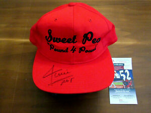 WILLIE MAYS NY GIANTS HOF 600 HR CLUB SIGNED AUTO SWEET PEA FIGHT CAP HAT JSA