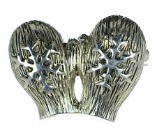 Solid 925 Sterling Silver Snowflake Mitten Christmas Pin Brooch '