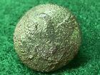 Solid Cast Eagle Coat Button. 1820's-1830's. SCOVILLS BM. Metal Detector Dug.Original Period Items - 4070