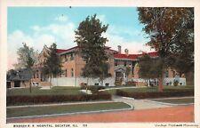 DECATUR IL 1915 Wasbash Rail Road Hospital VINTAGE LONG GONE RAIL ROAD GEM+++