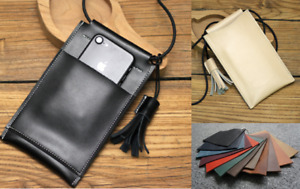 women wallet purse cow Leather phone pouch shoulder Messager bag Customize A781