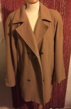 VINTAGE CLASSIC WOMAN CAMEL COAT WINTER READY PURE NEW WOOL CAMEL COAT SIZE 14