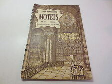 Later Renaissance Motets 1524 1580 Musica Sacra Series Volume One vintage