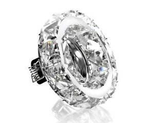 Design Kristall Einbaustrahler GU10/MR16 - auf Wunsch mit LED