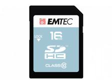 16 GB SDHC EMTEC Classic 25 MB/s alta velocidad class 10 Ultra HD