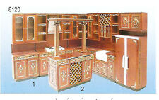 "Hansson Miniature 1:12 - Walnut ""MERCER"" Kitchen Set"