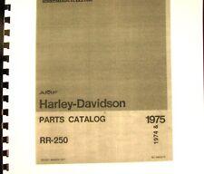 1974-1975 AMF Harley-Davidson Mar-1977 Parts Catalog For RR-250   #99429-75