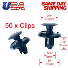 🔥Set of 50  Front Fender Liner Push Trim Retainer Clips 91512-SX0-003 for Acura