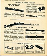 1969 Print Ad of Redfield SportSter & 2X Frontier Rifle Scope