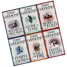 Terry Goodkind Sword of Truth Series (1-6) Books Collection Set Wizard's First