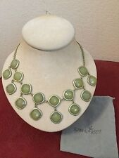 """Towne & Reese Bib 18"""" Necklace Gold Tone And Olive New"""