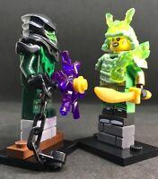 LLOYD wizzard ninja & GREEN EVIL MORRO LLOYD NINJA MINIFIGURES ninjago