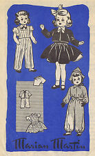"""9186 Vintage Marian Martin Chubby Doll Pattern - Size 14"""" - WWII Year 1941"""