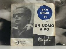 """GINO PAOLI - UN UOMO VIVO / IN UN CAFFE' 45 GIRI 7"""" RICORDI SRL 10-177"""