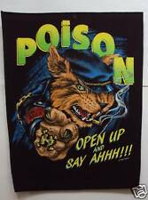 Vintage 80s Large Sew-On Patch: Poison - Open Up ....