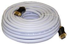 15m Bianco Ad Alta Velocità HDMI Cavo V1.4 3D Ethernet / HD 1080I / P