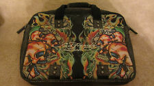 Ed Hardy by Christian Audigier Messenger Shoulder Bag Mortar