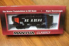 MANTUA CLASSICS/MRC 36' HOPPER w/COAL READING RAILROAD Orange Panel HO SCALE