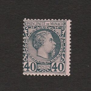 MONACO 1885 FORTY CENTIMES STAMP S.G. 7 LIGHTLY MOUNTED MINT