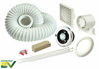 Manrose Showerlite Shower Extractor Fan Light Kit Timer White/Chrome VSL100TC