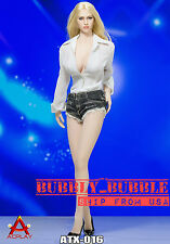 1/6 Sexy Female Deep V Shirt Jeans Shoes Set B For Phicen Hot Toys SHIP FROM USA