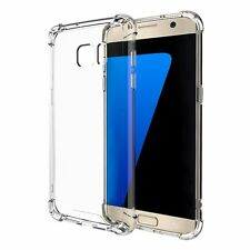For Samsung Galaxy S7 Hybrid Transparent Crystal Clear TPU Case Bumper Cover!