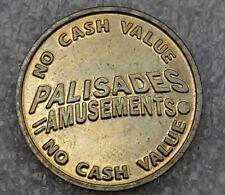VINTAGE PALISADES AMUSEMENT PARK, N.J. TOKEN
