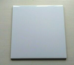 15cm x 15cm Ceramic Plain Gloss White Kitchen Bathroom wall tiles