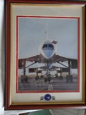 FRAMED & GLAZED CONCORDE TRIBUTE 1976-2003 SIGNED BY MIKE BANNISTER CHIEF PILOT