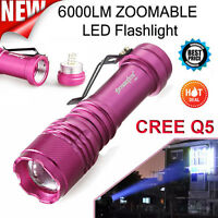 6000LM CREE Q5 AA/14500 3 Modes ZOOMABLE LED Flashlight Torch Super Bright Lamp