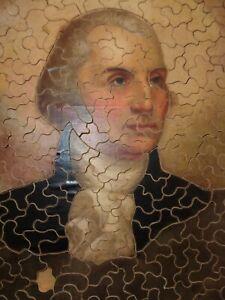 Vintage Wooden Jigsaw Puzzle George Washington Portrait by Rembrandt Peale 235